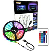Lumive LED Strip Lights 2M RGB Strip light Waterproof USB Powered for TV Back light Bedroom Kitchen Desktop PC Gaming…