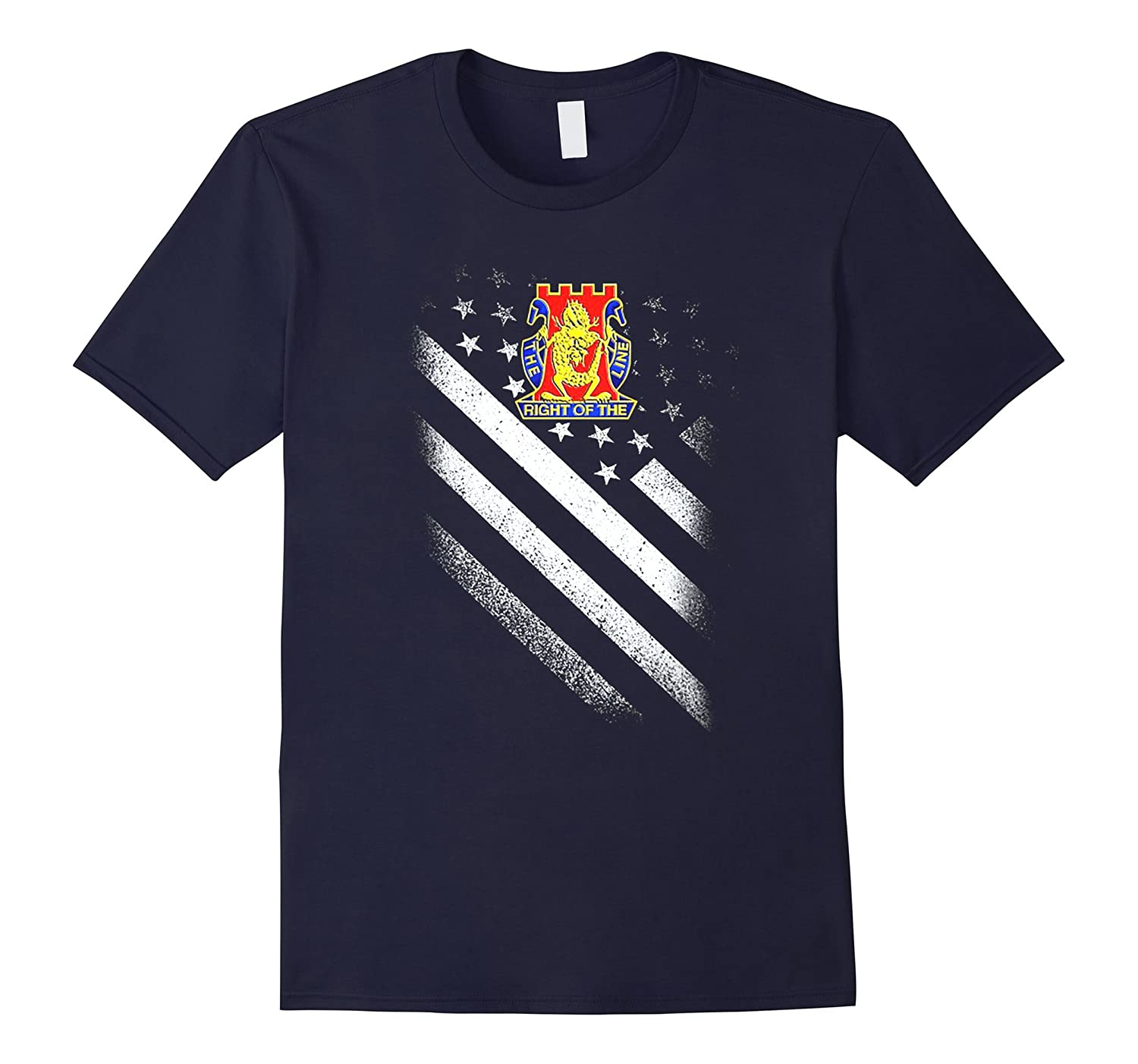 14TH INFANTRY REGIMENT AMERICAN FLAG TSHIRT-4LVS