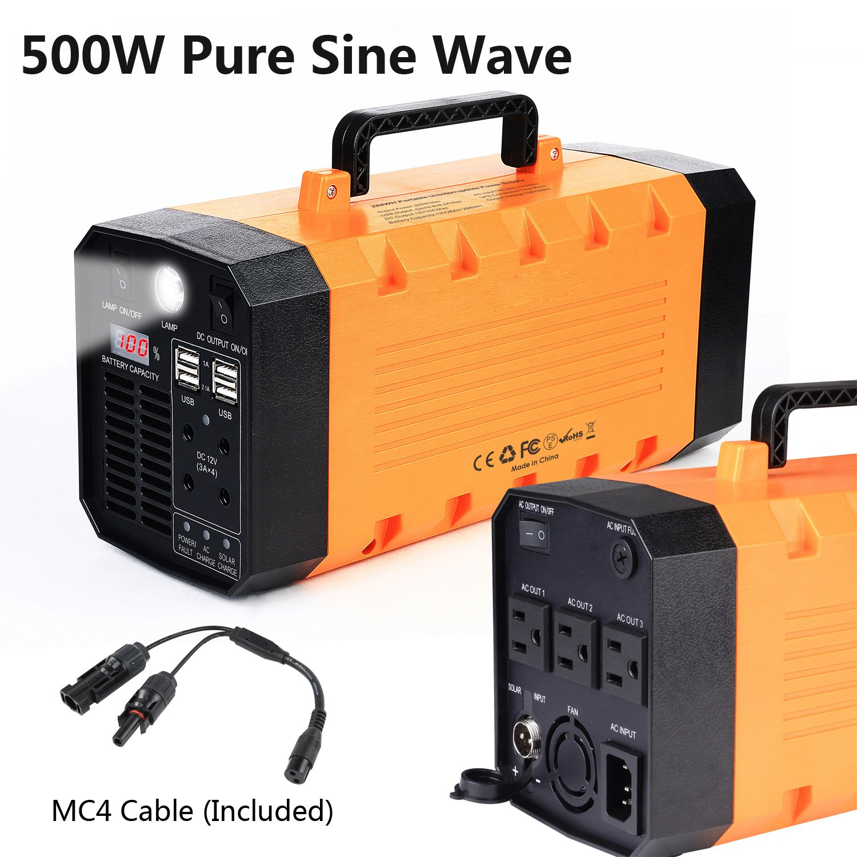 Amazon EasyFocus 500W 288WH Backup Portable Generator Solar
