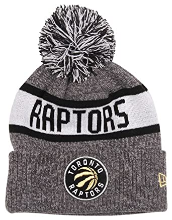 2176cfe7dbc New ERA NBA Marl Knit Beanie - Toronto Raptors Black Grey  Amazon.co.uk   Clothing