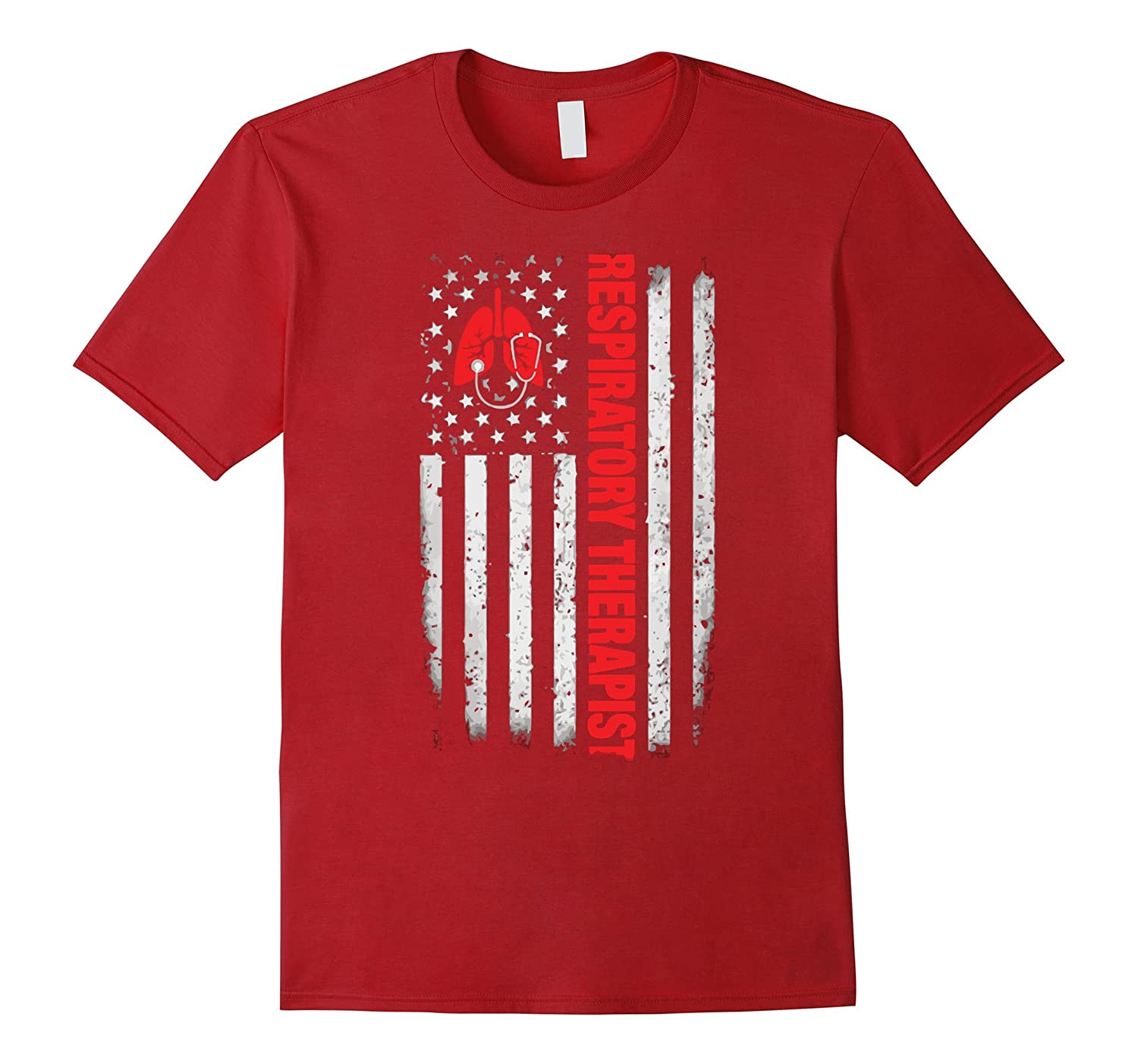 Respiratory Therapist American Flag T-Shirts Gifts-CL