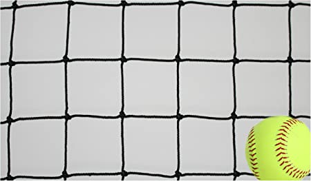 Goodwin Nets 6 Twisted Knotted Nylon 1 7//8 Baseball//Softball Backstop Net Barrier Netting #21 Black Square