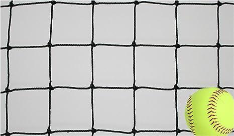 Goodwin Nets 7 Twisted Knotted Nylon 1 7//8 Baseball//Softball Backstop Net Barrier Netting #21 Black Square