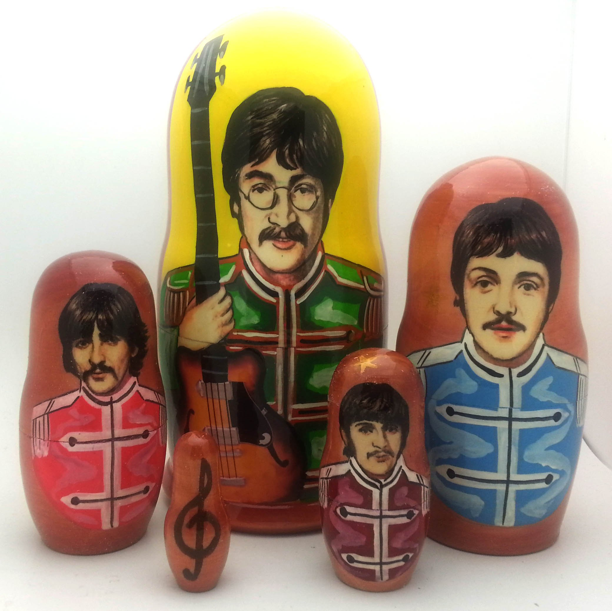 Beatles Sergent Pepper Russian Nesting dolls 5 piece DOLL Set 7'' by The Beatles (Image #1)