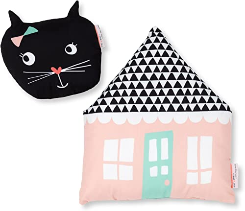South Shore DreamIt Night Garden Throw Pillows, 2-Pack, Pink Black, 2 Piece
