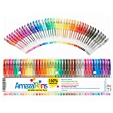 Gel Coloring Pens by AmazaPens - 40 Pack Super Glitter | 150% More Ink than Other Sets | Best for Adding Sparkle to Your Adult Coloring Books and Art Projects