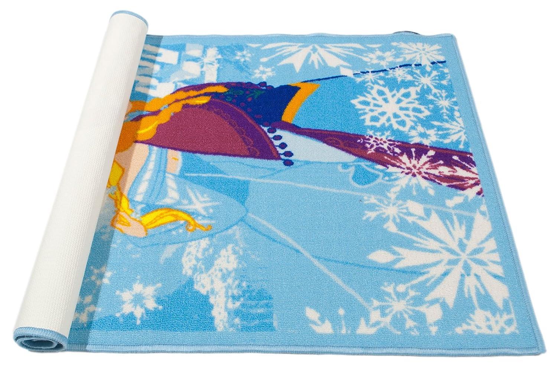 Galleria Farah1970-80x50 CM Tappeto per Bambini Marca con Licenza Ufficiale ed Originale di Disney Frozen Anna e Elsa
