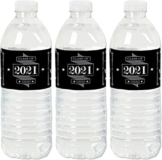 product image for Big Dot of Happiness Graduation Cheers - 2021 Graduation Party Water Bottle Sticker Labels - Set of 20