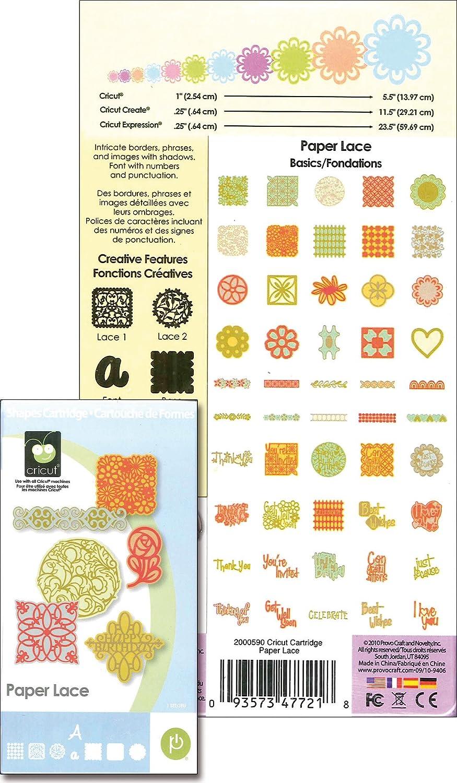 Amazoncom Cricut Cartridge Paper Lace
