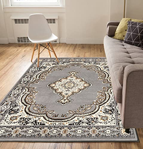 Well Woven Medallion Grey 9'3″ x 12'6″ Oversized Area Rug Carpet