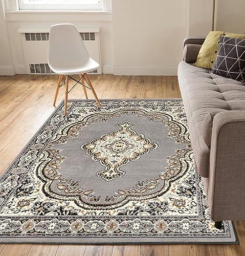 Well Woven Medallion Grey 9'3″ x 12'6″ Oversized Area Rug Carpet
