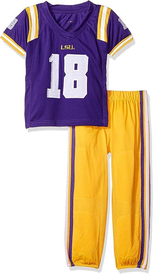 FAST ASLEEP NCAA Boys Toddler//Junior Football Uniform Pajamas