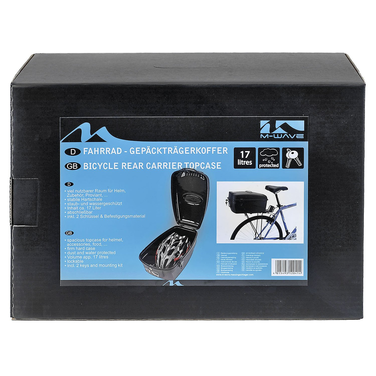 fda1c1362e6 Amazon.com   M-Wave Amsterdam Hard Box   Bike Panniers And Rack Trunks    Sports   Outdoors