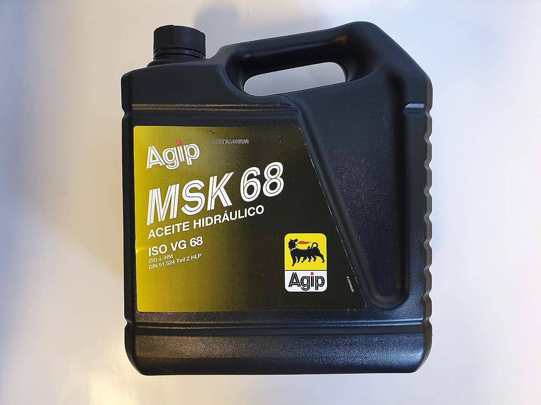 ACEITE HIDRÁULICO AGIP MSK 68 ISO VG 68 5L: Amazon.es: Coche y moto