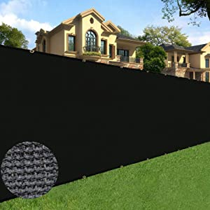 Sunnyglade 6 feet x 50 feet Privacy Screen Fence Heavy Duty Fencing Mesh Shade Net Cover for Wall Garden Yard Backyard Black