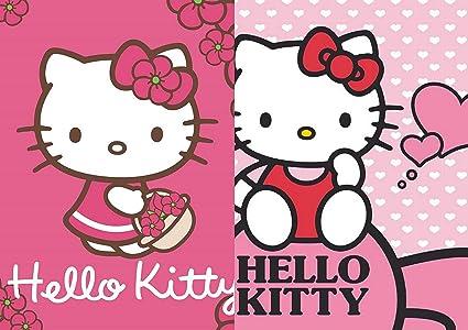 Hello Kitty Set 2 Lavette Da Bagno Dimensioni 30 Cm X 30 Cm Per Bambini Amazon It Casa E Cucina