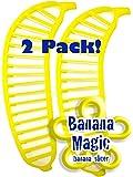 2 Pack Banana Slicer Cutters Banana Magic Kitchen Tool - Handy Gadget instantly slice chop banana chips no knife necessary !