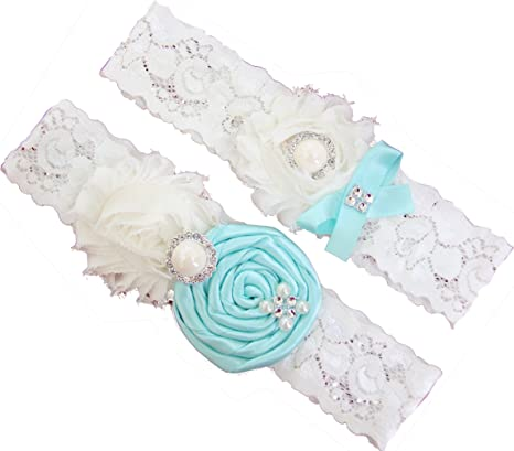 color or style. turquoise and black Lace Wedding Garter set any size