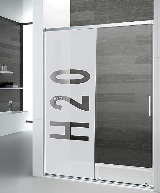 Vinilo para Mampara 75x120cm | Vinilo al Acido o Translúcido H2O | Adhesivo Decorativo Elegante | Ideal para tu Mampara de Baño: Amazon.es: Hogar