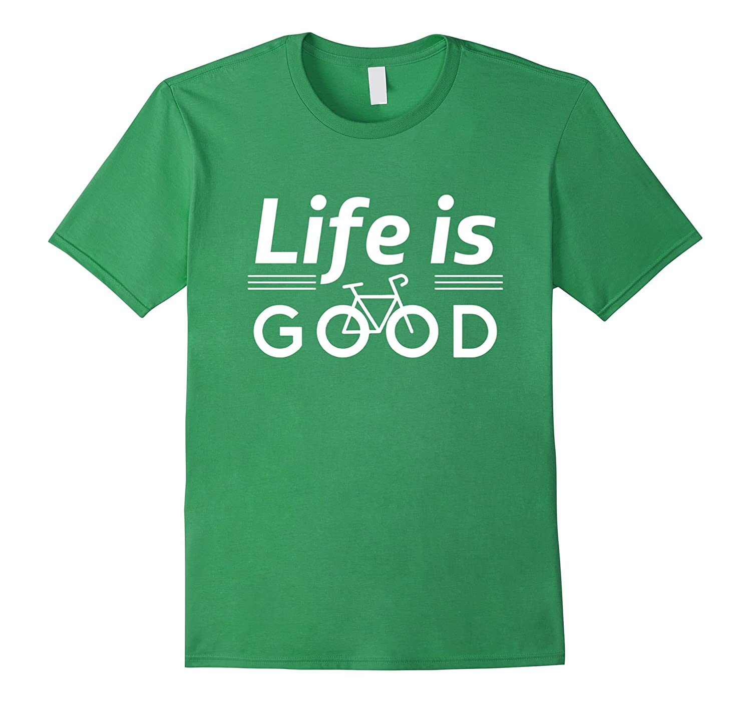 ee61a622c68 Life is Good With Bicycle T-Shirt Bike Shirt-PL – Polozatee