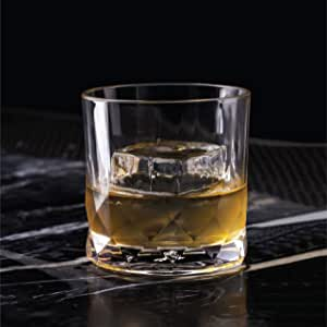 Ocean Connexion Set of 6 Double Rock Whiskey Glasses, P02807, Clear, 350 ml, Glass, Serves 6