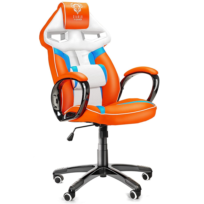 Gamer Gaming Orange SportsitzSportsesselRacer Blau X StuhlBürostuhlRacing Diablo DrehstuhlSchalensitzSchreibtischstuhlBürosesselweiß OXkPiuZT