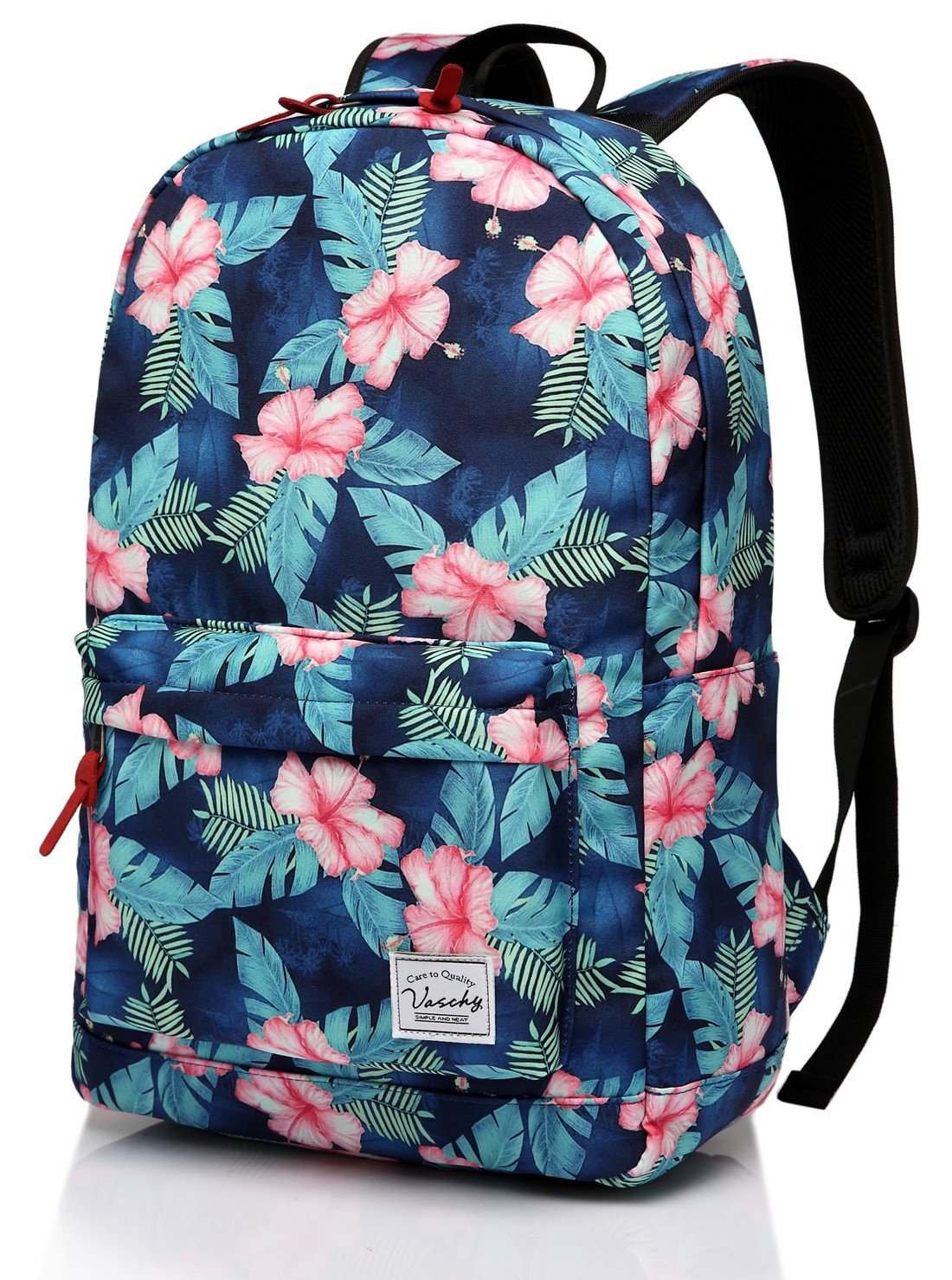 School Backpack,Fashion Korean Floral Middle School Teen Girls Backpack fits 15in Laptop by Vaschy