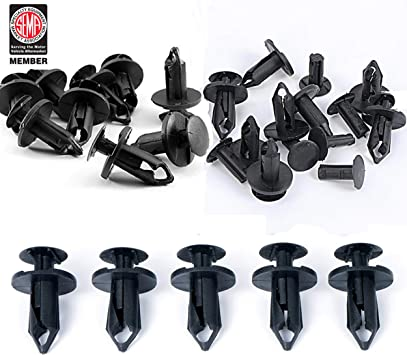 10 Pieces Xprite Grille Fastener Plastic Rivets Push Pin Clips Retainer for 2007-2018 Jeep Wrangler