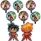 8 Pcs Dragon Ball Z Balloons,Double Side DBZ Super Saiyan Goku Gohan Character Birthday Party Decorations