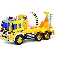 ThinkGizmos Camion Jouet à Friction avec Lumières & Son – Voiture Push Et Go (Marque déposée) (bétonnière)