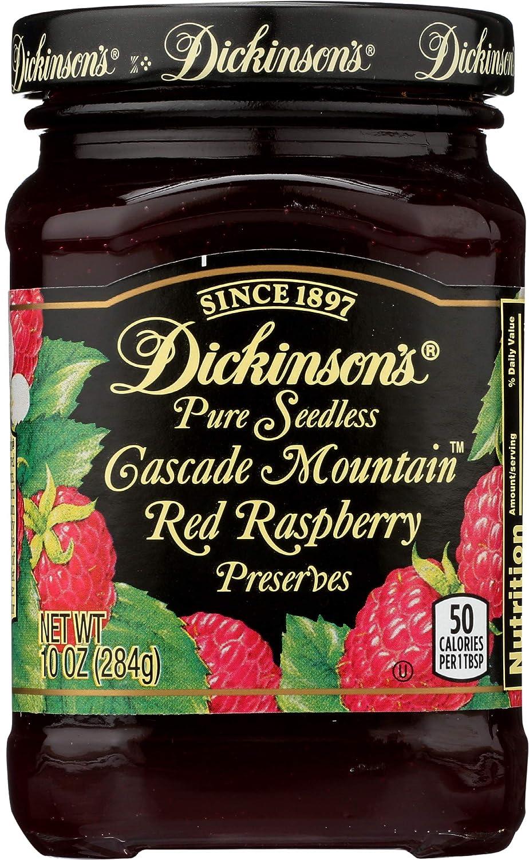 Dickinson's Seedless Red Raspberry Preserves, 10 oz