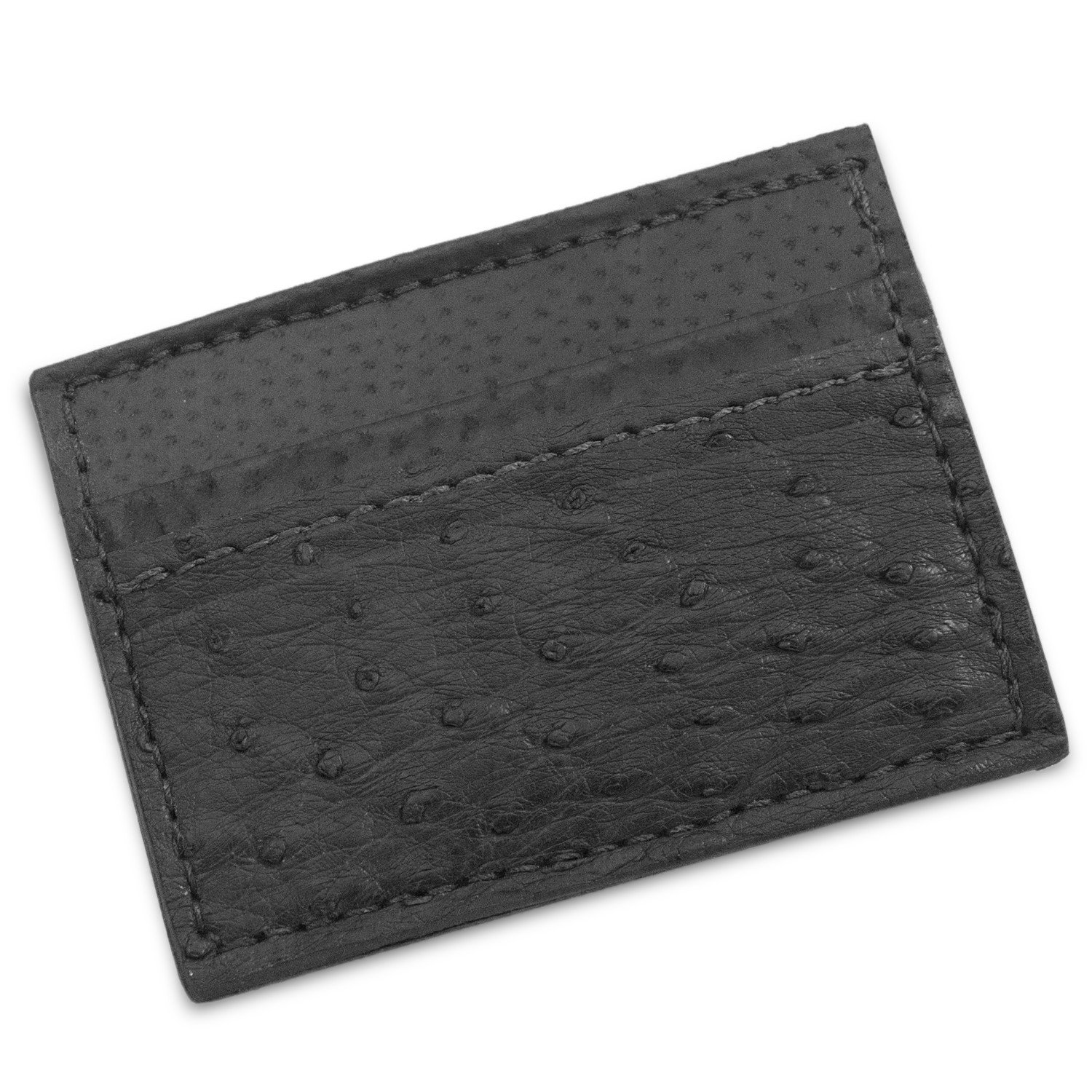 811bccc32c911 Genuine Ostrich Leather Magnetic Money Clip Wallet Handmade (Black) at  Amazon Men s Clothing store