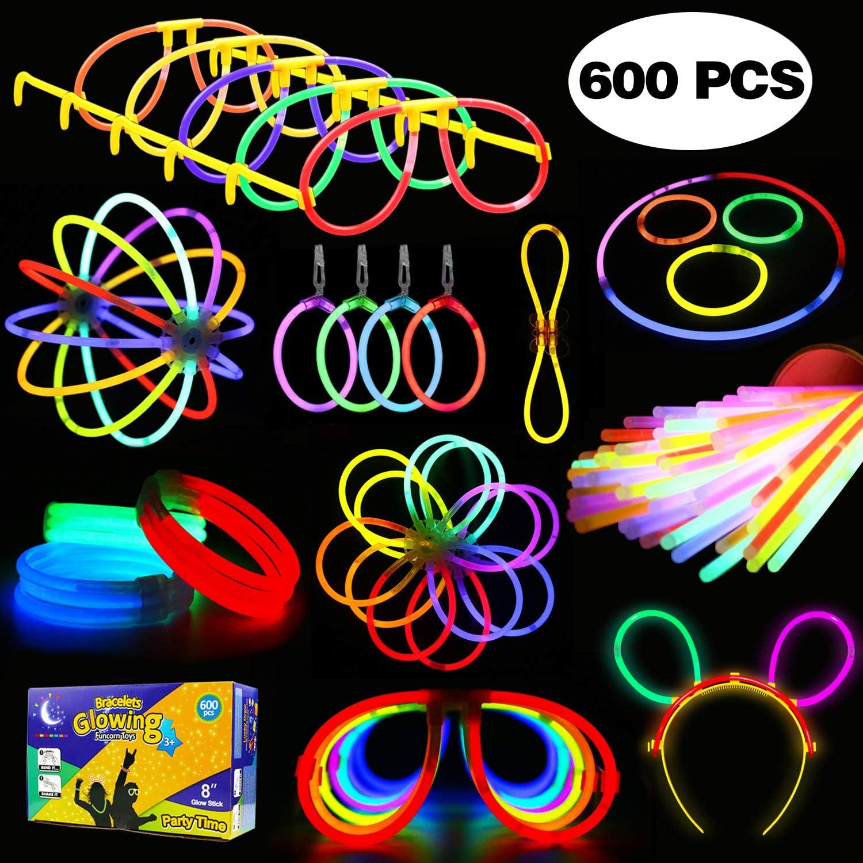 LYKJ-karber Funcorn Toys Varitas Luminosas y Accesorios de Pulseras, Gafas, Flores Decoración para Casa Navidad Halloween Fiestas Bodas y Conciertos (600pcs): Amazon.es: Juguetes y juegos