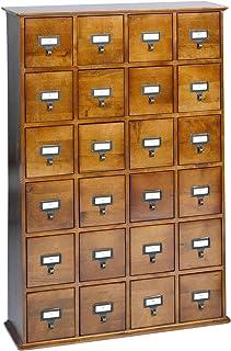 Leslie Dame CD-456W Solid Oak Library Card File Media Cabinet 24 Drawers & Amazon.com: Leslie Dame 288 CD Storage Cabinet in Walnut: Kitchen ...