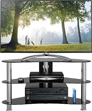 1home Soporte Vidrio Templado Negro de TV para 32-42pulgadas 90 cm ...