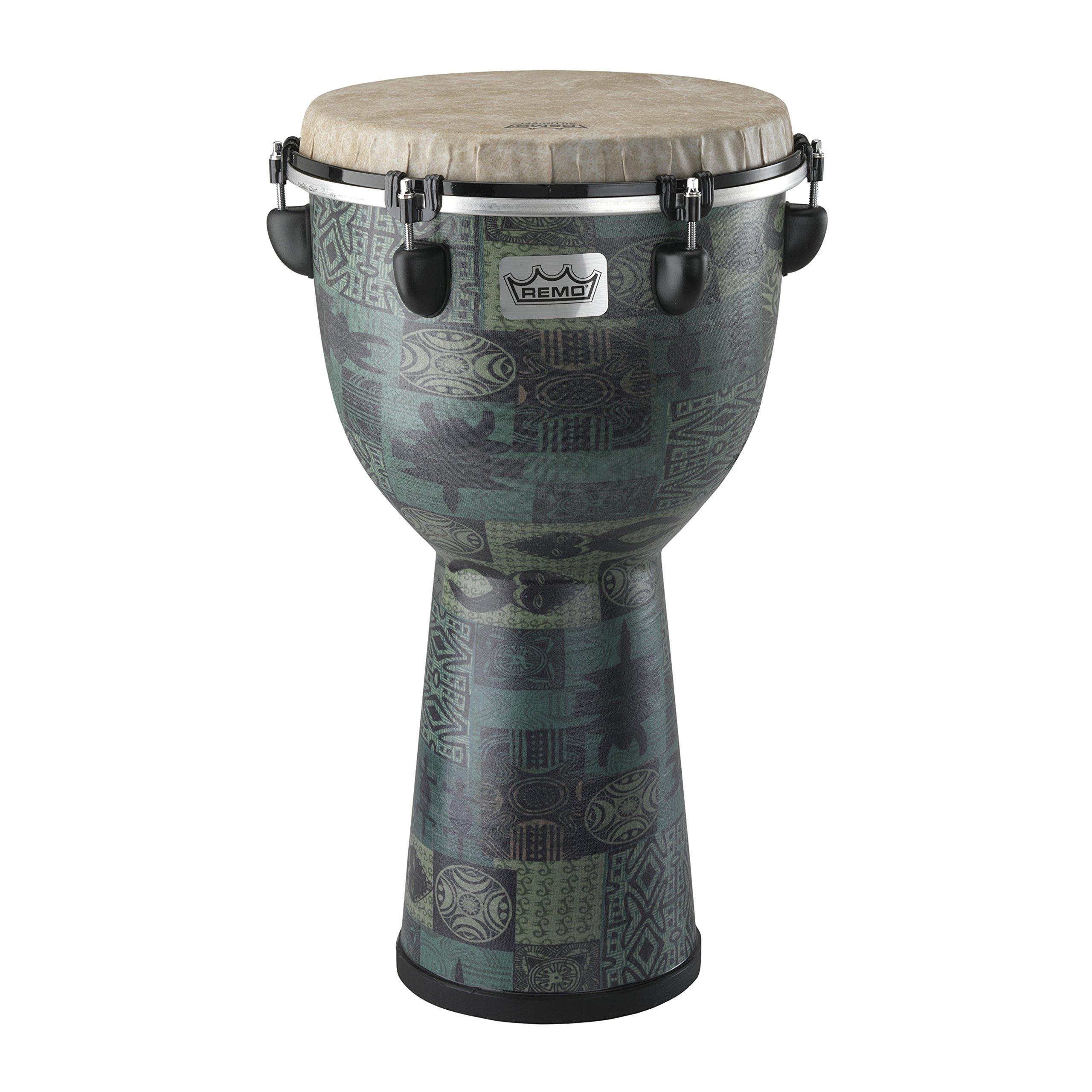 Remo DJ-6112-32 Apex Djembe Drum - Green Kinte, 12''