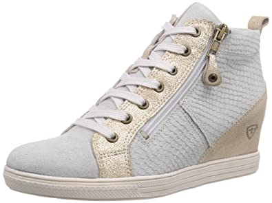 tamaris metallic high sneaker