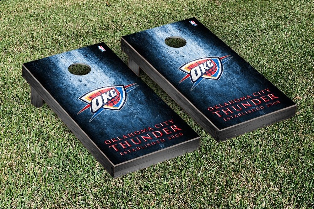 Oklahoma City Thunder NBA Basketball Regulation Cornhole Game Set Museum Version