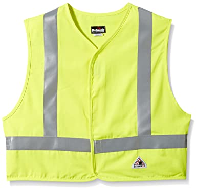 c2ebc2f66c9e Amazon.com  Bulwark Men s Hi-Visibility Flame-Resistant Safety Vest ...