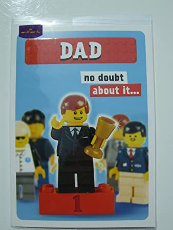 Lego Dad Birthday Card Amazon Office Products