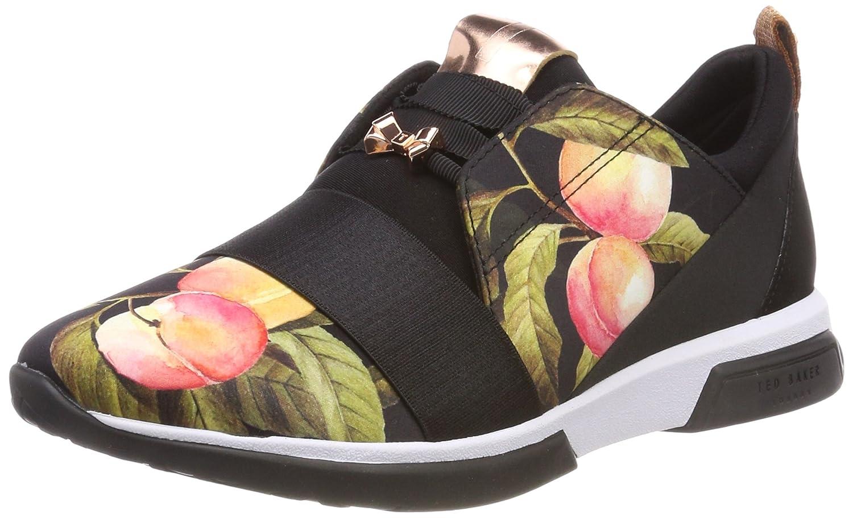 Ted Baker Cepap, Zapatillas para Mujer 39 EU|Negro (Peach Blossom Black)