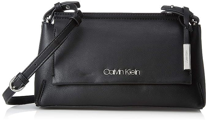 Calvin Klein - Stitch Flap Clutch/Crossbody, Bolsos bandolera Mujer, Negro (Black