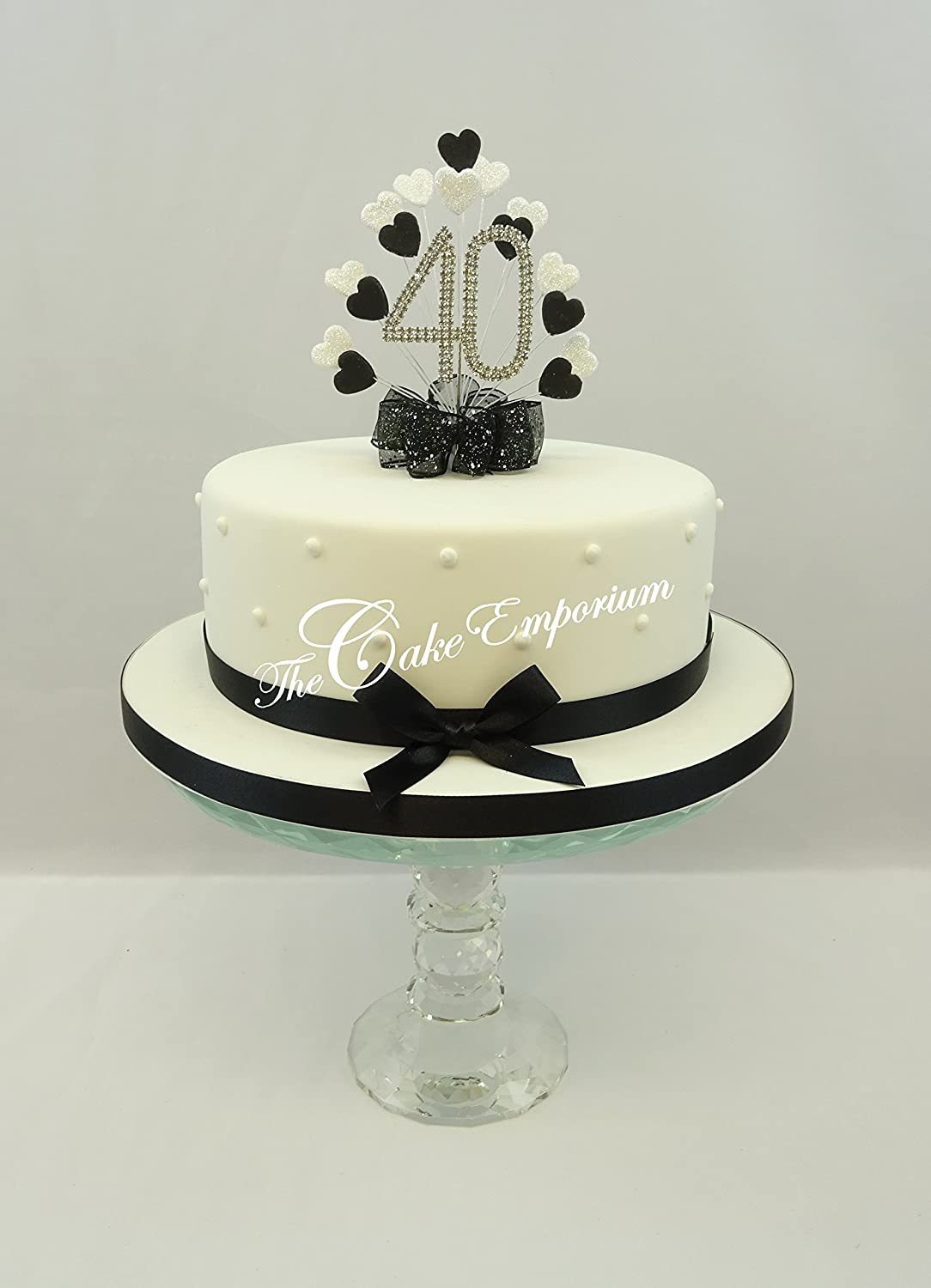 Amazon Cake Topper Burst Spray Diamante 40th Birthday Black