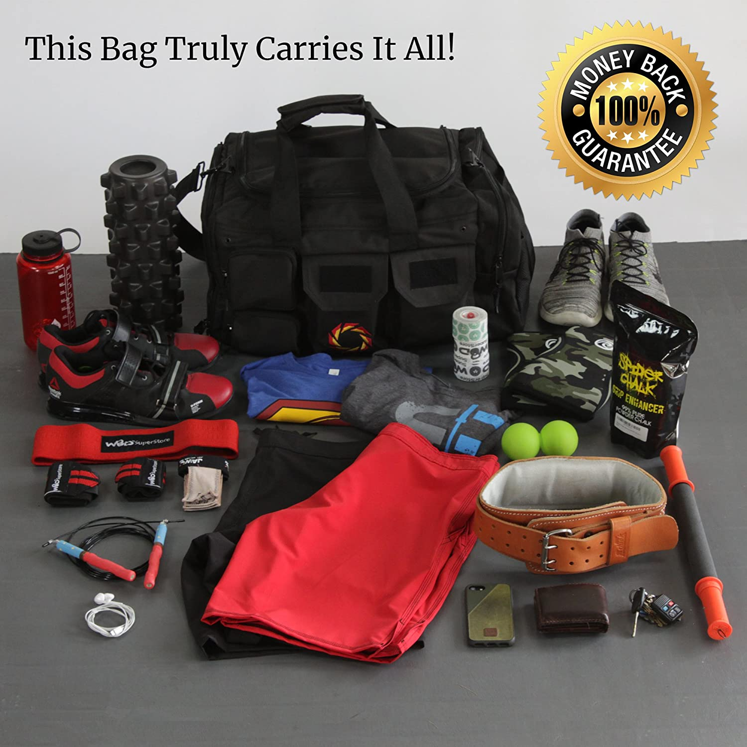 Rigor Gear Large Gym Bag – Holds the Most