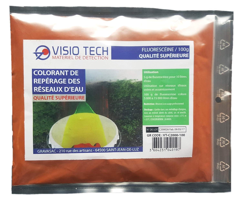 Visio Tech - Fluoresceina, confezione da: 100 g, polvere solubile in acqua