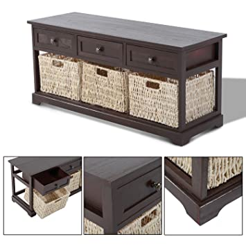 HOMCOM Storage Table Living Room Furniture Coffee Table Wooden