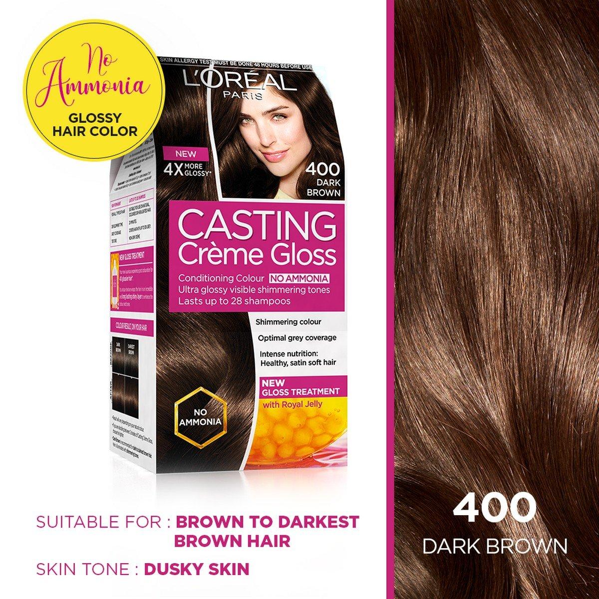 Buy Loreal Paris Casting Creme Gloss Dark Brown 400 875g72ml