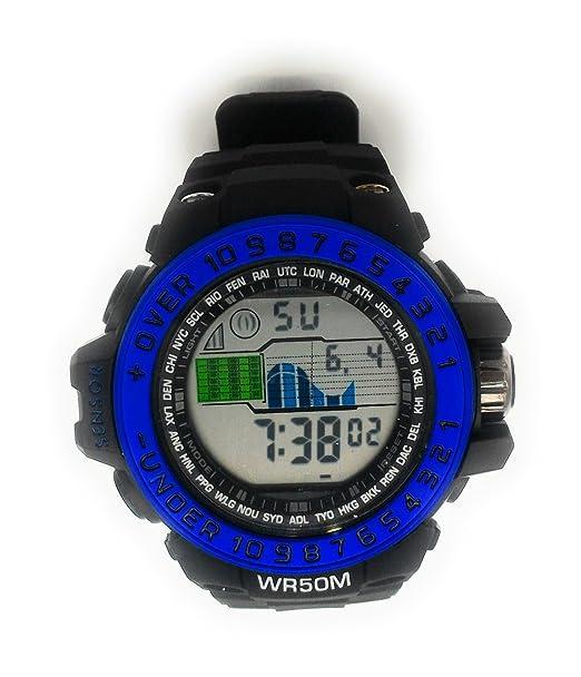 Reloj de pulsera digital deportivo impermeable ideal para los deportistas: Amazon.es: Relojes