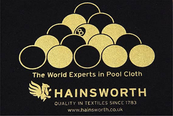 Hainsworth Gamuza Cobertizos, mesa de billar, color negro viejo EPA configurar: Amazon.es: Deportes y aire libre