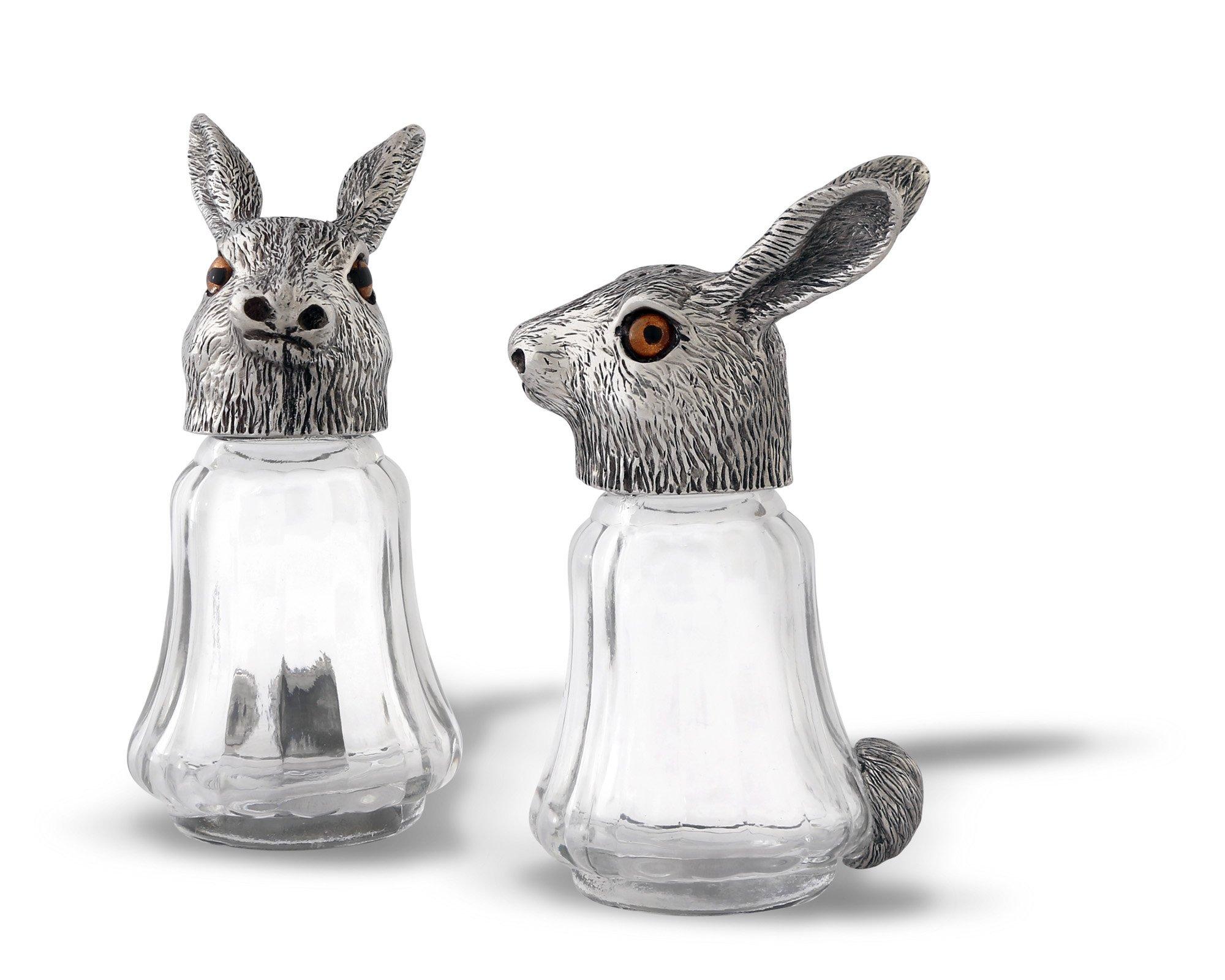 Vagabond House Glass Rabbit Salt & Pepper Set 4.5'' Tall